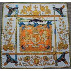 """51"""" Royal Order Silk Twill Scarf Warm Colors"""