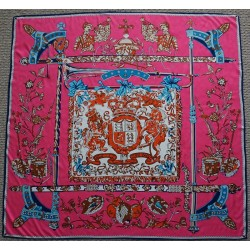 Royal Order Silk Twill Scarf Blue and Pink 51""
