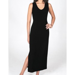 Size Small Black Crepe Tank Dress with Wide Straps