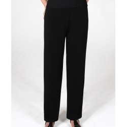 Size Extra-Small Navy Straight Leg Crepe Pants