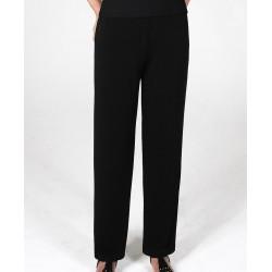 Size 1-X-Large Black Straight Leg Crepe Pants