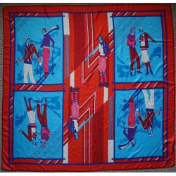 "51"" Elegant Sporty 100% Twill Silk Scarf Red"