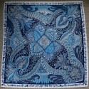 """51"""" Perfect Blues Twill Silk Classic Square"""