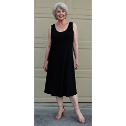 Size Small Black Crepe Tank A-Line Dress