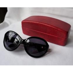 Kameleon Black Jeweled Sunglasses With Pearl