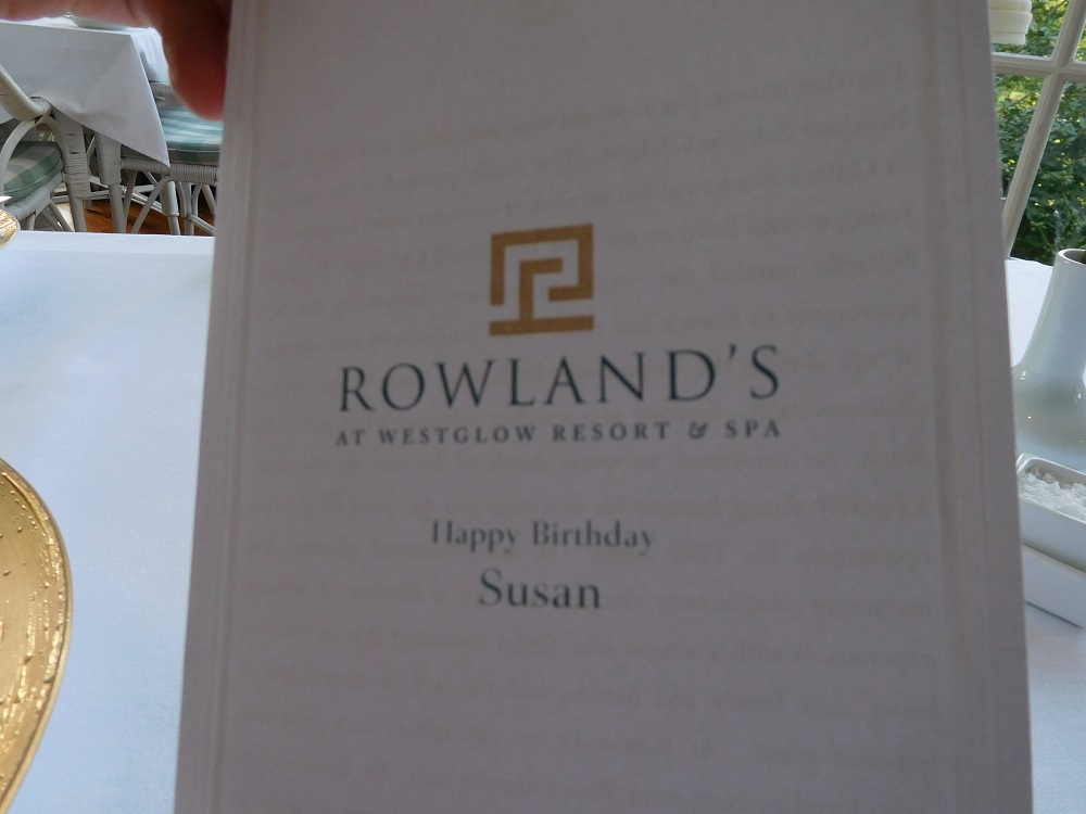 My personalized birthday card from Rowland's!