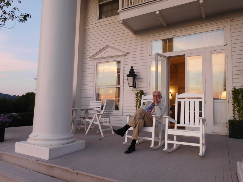 Resting on the porch after dinner is a southern tradition.