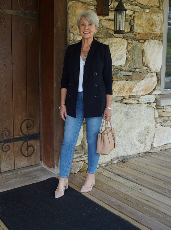 A Blazer and Jeans Outfit - Susan Street